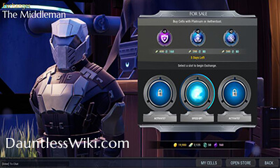 las células de dauntlesswiki the Middleman