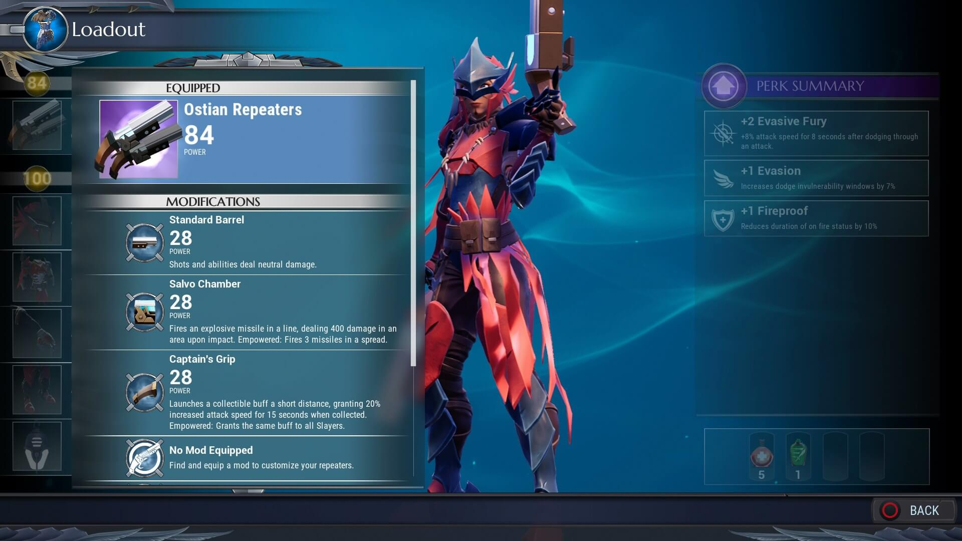 started dauntless ostian repeaters